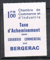 FRANCE TIMBRE DE GREVE BERGERAC NEUF (COTE MAURY: 100€) - Strike Stamps