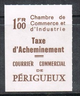 FRANCE TIMBRE DE GREVE PERIGUEUX NEUF (COTE MAURY: 100€) - Strike Stamps