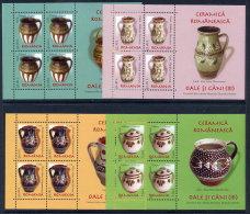ROMANIA 2008 Ceramoc  Jugs Blocks (4) MNH / **.  Michel Blocks 419-22 - 1948-.... Republics