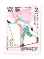 KAMPUCHEA 1984 OLIMPIADI MONACO 1984 SCI USATO - Kampuchea
