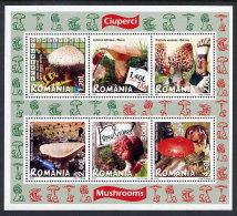 ROMANIA 2008 Edible Fungi Block  MNH / **.  Michel Block 417 - 1948-.... Republics
