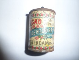 BOITE  : CACAO HOLLANDAIS BENSDORP AMSTERDAM. 4,5 Cm X 3 Cm - Other