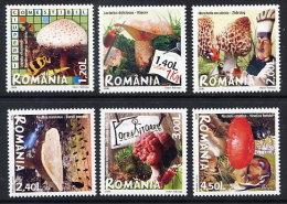 ROMANIA 2008 Edible Fungi Set Of 6   MNH / **.  Michel 6262-67 - 1948-.... Republics