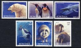ROMANIA 2007 Polar Fauna  Set Of 6   MNH / **.  Michel 6256-61 - 1948-.... Republics