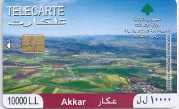 Télécarte Akkar 10000 L.L : Liban 2010. (Voir Commentaires) - Libanon