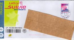 PAP--Lettre SUIVIE Documents 20g --cachet Rond--COUHE--86--Vienne Du  6-1-2015 - Prêts-à-poster: Other (1995-...)