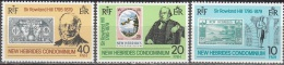Nouvelles Hebrides 1979 Michel 531 - 533 Neuf ** Cote (2005) 2.20 Euro Rowland Hill Avec Ancien Timbres - Engelse Legende