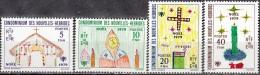 Nouvelles Hebrides 1979 Michel 549 - 552 Neuf ** Cote (2005) 2.80 Euro Noël Dessins D'enfants - Légende Française