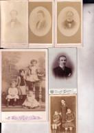 ENGHIEN NIVELLES 26 Photos Dont CDV Reliquat Album Généalogiste René GOFFIN, Familles MERCIER, DU PONT MOYART - Alte (vor 1900)