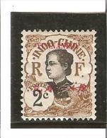 TIMBRES D'INDOCHINE DE 1907 AVEC YUNNANFOU Surcharge En Rouge N° 34 *  Charnières - Nuevos