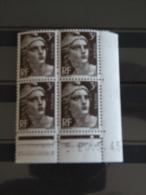 N°715 Coin Daté N°45 Y&T- Marianne Gandon - 20.3.1945 - Coté 1,25 € - Neuf - Coins Datés