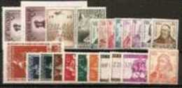 BELGIE 1942 Xx VOLLEDIG JAAR / L´ANNEE COMPLETE COB . 592A/612 - 22 W/V + 2 BL COTE: 146.00 EURO - Années Complètes