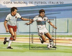 Nicaragua World Cup Soccer Italy 90 Sc C1169 S/S MNH 1989 - Copa Mundial