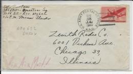 USA - 1945 - ENVELOPPE De L'APO 622 Basé à DAKAR (SENEGAL) RATTACHE POSTALEMENT à MIAMI Pour CHICAGO - Marcophilie (Lettres)