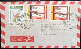 Peru Mi. 1279 Und 1244(2) By Air Mail 1985 Nach Coburg !!! - Perú