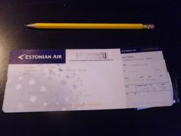 ESTONIE - ESTONIAN AIr  - Ticket AVION - Compagnie Aérienne - Copenhague Paris - Europe