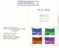 Belgique.Chemin De Fer.1976.Série TR428/431.FDO Sur Document - 1952-....