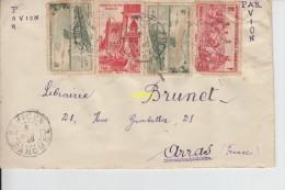 Timbres Sur Dessus D Enveloppe   De Bohicon  Pour Librairie Brunet  Arras   Par Avion - Bénin – Dahomey (1960-...)