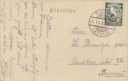 Latvia; Postcard 1937 - Letonia