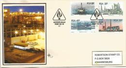 Plateformes Pétrolières Et Raffinerie De Steenkool.  Enveloppe FDC Adressée à Johannesburg (Afrique Du Sud) - Oil