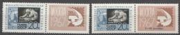 Russia SSSR 1967 Mi#3351 Zf I And II Mint Never Hinged
