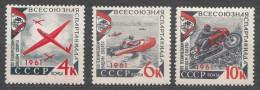 Russia SSSR 1961 Mi#2503-2505, Mint Never Hinged