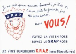 BUVARD  - Excellent Etat -  VINS  Supérieurs Le Grap - Food