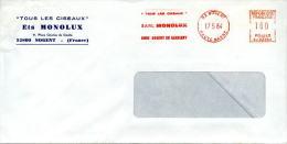 EMA Illustrée Tous Les Ciseaux Ets Monolux Sur Enveloppe Entete Monolux,lettre Obliterée 52 Nogent En Rassigny 17.5.84 - Physics