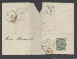 8655-GRANDE FRAMMENTO DI LETTERA AFFRANCATA ONE SHILLING - 1840-1901 (Regina Victoria)