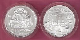 SLOWAKIJE 20 EURO 2011 SILVER FDC HISTORICAL SITES-TRNAVA KM118 - Slovaquie