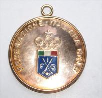 ITALIA 2006 - MEDAGLIONE IN BRONZO ARTISTICO SMALTATO FEDERAZIONE ITALIANA GOLF - Golf