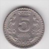 INDIA   5 RUPEES  ANNO 2003 - Inde