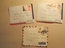 Marcophilie - Lot 3 Enveloppes Obliteration Militaire Postes Aux Armées TOE (13/14) - Marcophilie (Lettres)