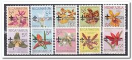 Nicaragua 1965, Postfris MNH, Flowers With Overprint CAMPOREE SCOUT 1965 - Nicaragua