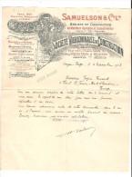 18 - VIERZON - Lettre à Entête : Société Vierzonnaise De Construction - Samuelson & C° Ltd Réponse Demande D'embauche - France