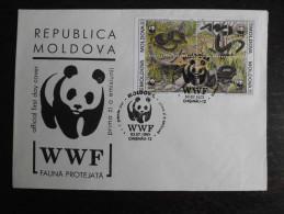 Moldavië Moldova 1993 WWF Local FDC's - Slang / Aesculapian Snake - FDC