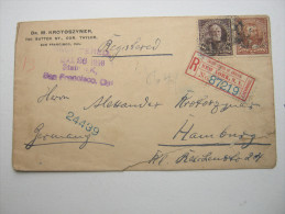 1898,  Registered Letter To  Germany    Little Damage From Opening The Cover - 1847-99 Emissions Générales