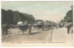 75 - PARIS 16 - Avenue Du Bois De Boulogne - Le Retour Des Courses - 260 - Arrondissement: 16