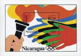 NICARAGUA ATLANTA 96 TORCH HANDS Sc 1977 MNH 1993 - Zomer 1996: Atlanta