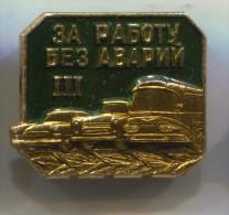 Bus, Autobus, Car Automobile, Russia Soviet Union, Vintage Pin Badge - Trasporti
