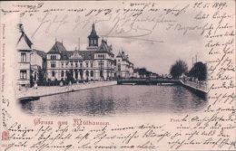 France, Gruss Aus Mülhausen 1899 (3814) - Mulhouse