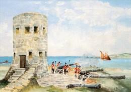 Postcard - Rousse Martello Tower, Guernsey. C.V.43 - Guernsey