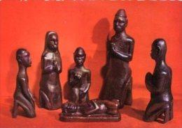 ART CHRETIEN D'AFRIQUE - Cartolina CREQUE SCULPTEE PAR MATHIAS GOYO A FORT ARCHAMBAULT - H49 - Sculture