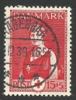 Denmark, 15 + 5 O. 1939, Sc # B11, Mi # 252, Used - 1913-47 (Christian X)