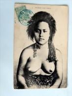 Carte Postale Ancienne :FIJI : Femmes Des FIDGY, Stamp, Nude, RARE - Fiji