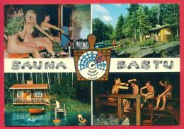 162252 / NUDE MAN , NUDE WOMAN , SAUNA BASTU , BOY BALL , REAUMUR FAHRENHEIT CELSIUS Finland Finlande Finnland Finlandia - Uomini