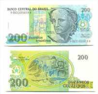 Brasil - Brazil 200 Cruzeiros 1990 Pick-229 UNC - Brasil