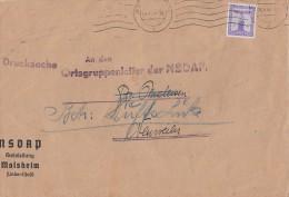 DR Brief EF Minr.159 Molsheim Elsass 6.4.44 - Dienstpost