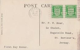 Jersey AK Mef Minr.2x 1 Jersey 29.1.42 FDC - Besetzungen 1938-45