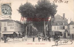 17  -  SAINTES -  Avenue Gambetta - écrite 1903    - 2 Scans - Saintes